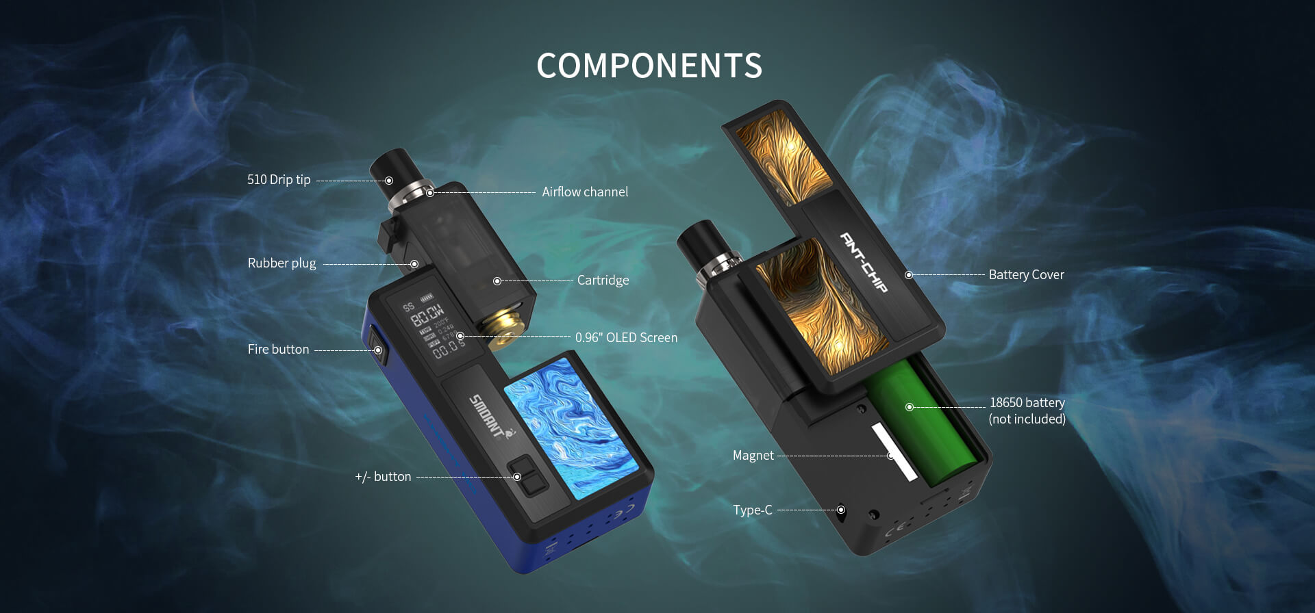 Smoant Knight 80 80W TC VW Pod Knight-80-04
