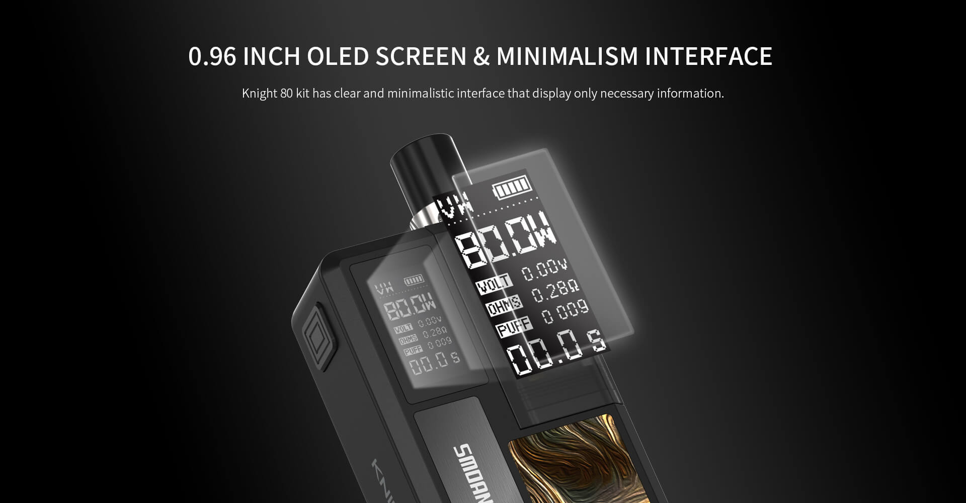 Smoant Knight 80 80W TC VW Pod Knight-80-08